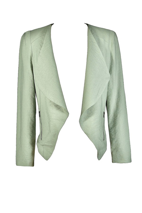 Class Act Open Jacket in Mint