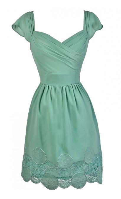 Cute Sage Dress, Sage Green Dress, Sage A-Line Dress, Sage Green Party Dress, Sage Green A-Line Dress, Sage Bridesmaid Dress