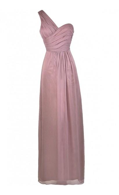 Cute Purple Dress, Purple Maxi Dress, Purple One Shoulder Bridesmaid Dress, Purple Bridesmaid Dress, Dusty Purple Dress, Purple Prom Dress, Purple Formal Dress