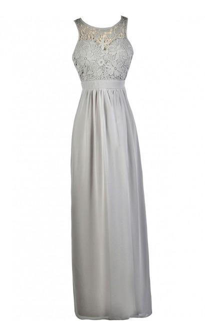 Grey Lace Dress, Grey Lace Maxi Dress, Grey Bridesmaid Dress, Grey Maxi Bridesmaid Dress, Gray Maxi Bridesmaid Dress, Gray Formal Dress, Cute Maxi Dress, Lace Maxi Dress