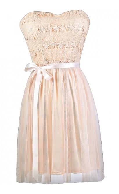 Light Pink Party Dress, Pink Bridesmaid Dress, Pale Pink A-Line Dress, Cute Pink Dress, Pink Summer Dress