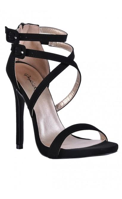 Black Stiletto Heels, Black Strappy Sandals, Black Stiletto Sandals, Cute Black Heels