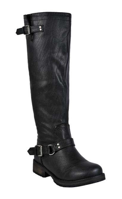 Black Studded Boots, Cute Fall Boots, Black Riding Boots, Black Combat Boots