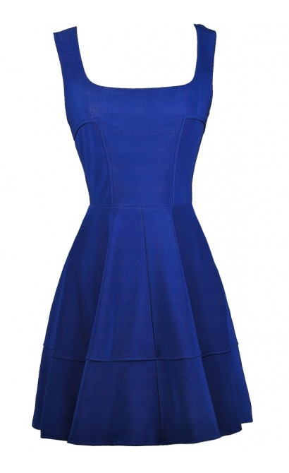 Royal Blue Dress, Cute Blue Dress, Blue Party Dress, Bright Blue Cocktail Dress