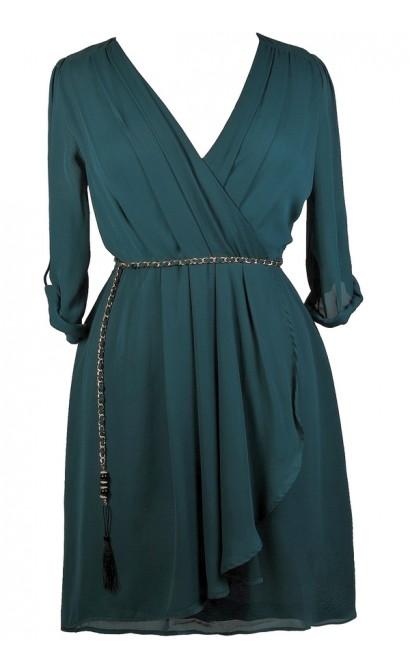 Cute Plus Size Dress, Plus Size Wrap Dress, Plus Size Party Dress