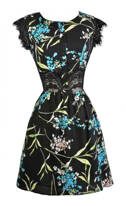 Tropical Print Sundress, Cute Summer Dress, Hawaiian Print Dress