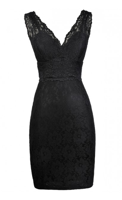 Black Lace Dress, Little Black Dress, Black Lace Party Dress