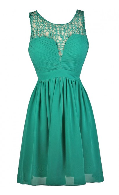 Cute Teal Dress, Teal Party Dress, Teal Cocktail Dress
