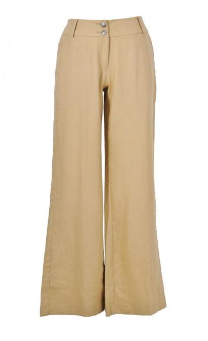 Perfect Cut Beige Linen Pant