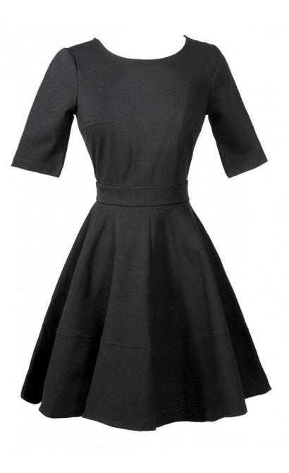 Cute Black Flare Dress, Cute Black A Line Dress, Cute Little Black Dress, Black Juniors Dress