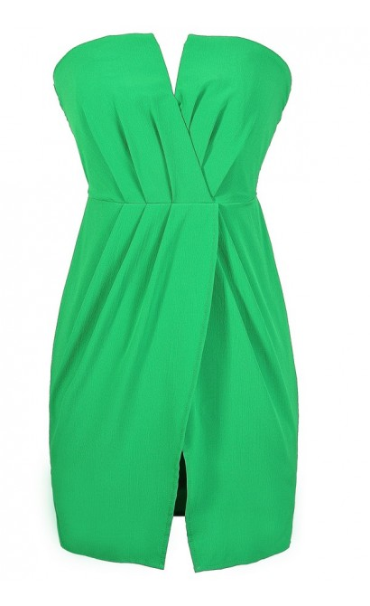 Bright Green Dress, Green Tulip Skirt Dress, Kelly Green Party Dress, Lovecat Green Dress, Cute Green Summer Dress, Green Cocktail Dress, Green Party Dress