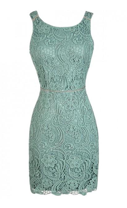 Lace Pencil Dress, Sage Lace Dress, Mint Lace Dress, Green Lace Dress, Open Back Lace Dress, Lace Cocktail Dress, Lace Party Dress, Sage Crochet Lace Dress, Sage Lace Pencil Dress