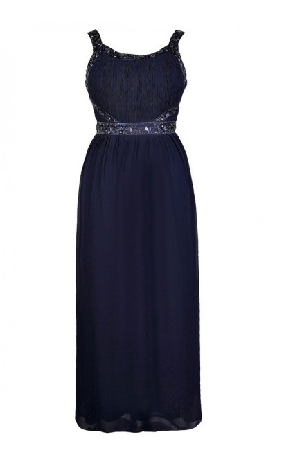 Plus Size Formal Dress, Navy Plus Size Dress, Cute Plus Size Dress, Plus Size Prom Dress, Plus Size Maxi Dress, Cute Navy Maxi Dress, Beaded Navy Maxi Dress