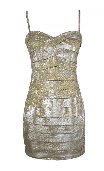 Cute Gold Dress, Gold Party Dress, Cute New Years Dress, Cute Party Dress, Gold Bodycon Dress, Fitted Gold Dress, Tiered Gold Dress
