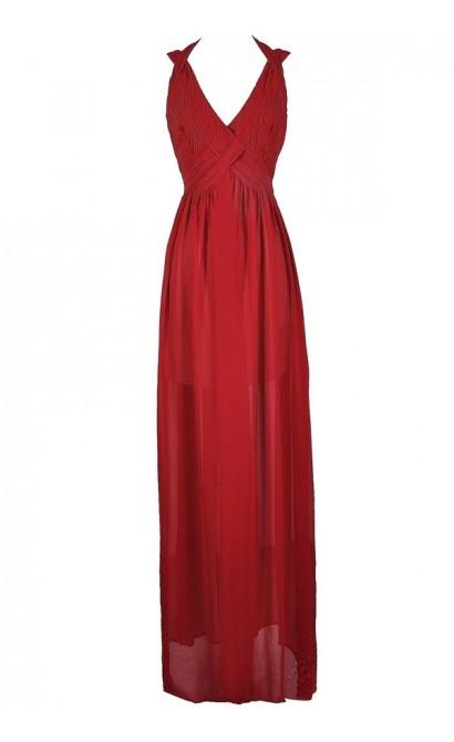 Red Maxi Dress, Red Prom Dress, Red Formal Dress, Red Floor Length Dress, Cute Holiday Dress, Cute Christmas Dress, Cute Mistletoe Dress, Cute Winter Formal Dress