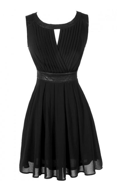 Cute Black Dress, Little Black Dress, Black Chiffon Dress, Black A-Line Dress, Black Party Dress, Black Cocktail Dress