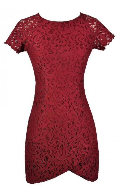 Burgundy Lace Dress, Burgundy Lace Pencil Dress, Cute Burgundy Dress, Burgundy Capsleeve Lace Dress, Red Lace Dress, Red Lace Pencil Dress, Red Capsleeve Lace Dress