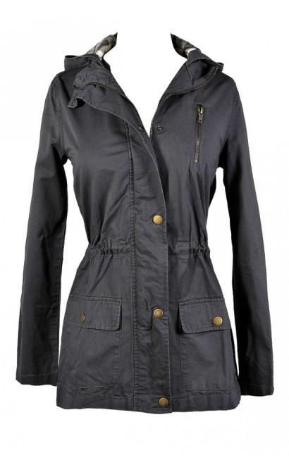 Grey Anorak Jacket, Cute Grey Anorak, Cute Grey Jacket, Grey Hiking Jacket, Cute Hiking Jacket