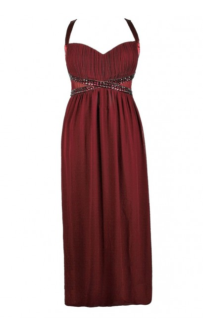 Plus Size Prom Dress, Plus Size Formal Dress, Plus Size Maxi Dress, Plus Size Burgundy Prom Dress, Plus Size Burgundy Maxi Dress, Plus Size Burgundy Formal Dress, Embellished Plus Size Dress