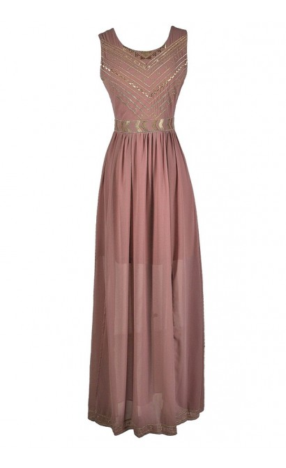 Dark Pink Maxi Dress, Pink and Gold Maxi Dress, Gold Embroidered Maxi Dress, Gold Embroidered Dress, Pink and Gold Boho Dress