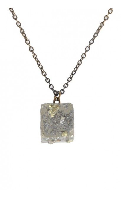 Cute Pyrite Necklace, Cute Pyrite Jewelry, Pyrite Mineral Necklace, Pyrite Charm Necklace