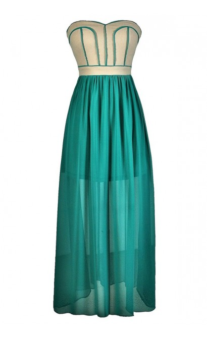 Teal and Beige Maxi Dress, Cute Maxi Dress, Teal Maxi Dress, Cute Teal Dress, Cute Prom Dress, Teal Formal Dress, Jade Maxi Dress, Jade Prom Dress, Teal and Beige Dress, Cute Jade Dress
