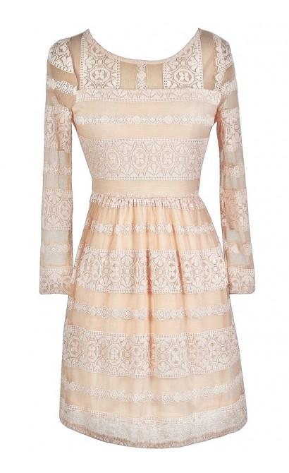 Pink Lace Dress, Cute Pink Dress, Pale Pink Lace Dress, Light Pink Lace Dress, Blush Pink Lace Dress, Cute Lace Dress, Pink Lace Party Dress, Pink Lace A-Line Dress