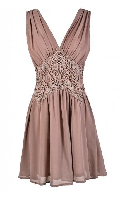 Mauve Pink Dress, Dusty Pink Dress, Mauve Embroidered Dress, Pink Embroidered Waist Dress, Mauve Party Dress, Mauve Cocktail Dress, Dusty Pink Cocktail Dress, Dusty Pink Party Dress