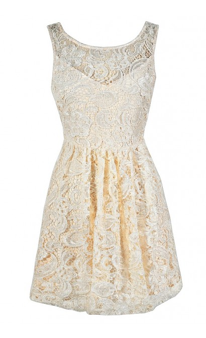 Cream Lace Dress, Beige Lace Dress, Ivory Lace Dress, Cream Lace Rehearsal Dinner Dress, Beige Lace Rehearsal Dinner Dress, Ivory Lace Rehearsal Dinner Dress, Cream Lace Party Dress, Ivory Lace Party Dress, Cream Lace A-Line Dress, Beige Lace A-Line Dress