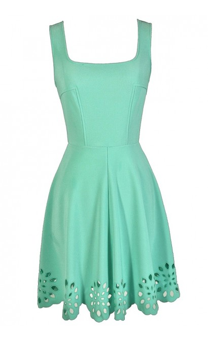 Cute Mint Dress, Mint A-Line Dress, Mint Party Dress, Mint Eyelet Dress, Mint Summer Dress, Cute Summer Dress, Cute Party Dress, Mint Bridesmaid Dress