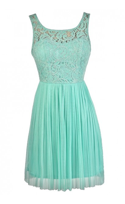 Mint Lace Dress, Cute Mint Dress, Mint Party Dress, Mint Bridesmaid Dress, Mint Lace Bridesmaid Dress, Mint A-Line Lace Dress, Mint Summer Dress, Cute Summer Dress