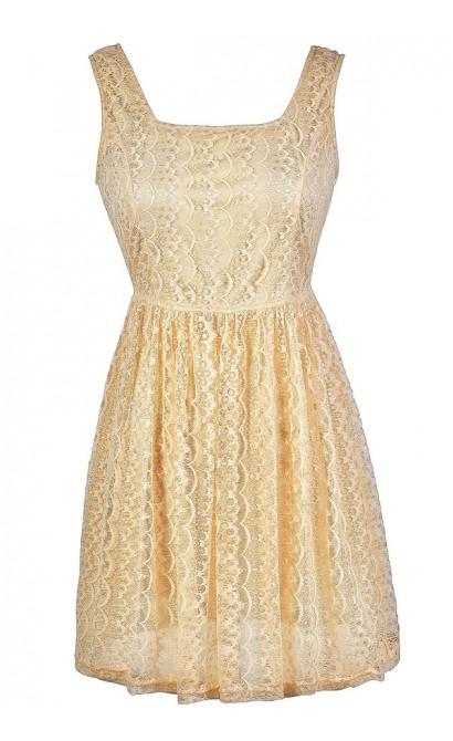 Cream Lace Dress, Cream Lace A-Line Dress, Cream Lace Summer Dress, Cream Lace Party Dress, Cute Lace Dress, Lace Summer Dress, Lace Babydoll Dress