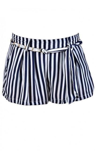Navy and White Stripe Shorts, Nautical Stripe Shorts, Cute Stripe Shorts, Cute Vacation Shorts, Navy and White Shorts, Pinstripe Shorts