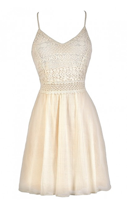 Cute Beige Dress, Beige Lace Dress, Cream Lace Dress, Cute Summer Dress, Beige Summer Dress, Cream Summer Dress