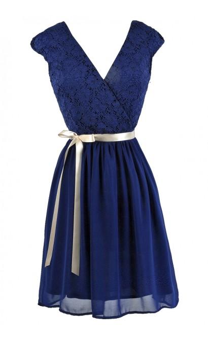 Blue Lace Dress, Bright Blue Lace Dress, Royal Blue Lace Dress, Blue Lace A-Line Dress, Blue Lace Bridesmaid Dress, Cute Blue Bridesmaid Dress, Blue Lace Party Dress, Blue Summer Dress, Royal Blue Lace Dress