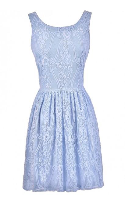 Periwinkle Blue Lace Dress, Pale Blue Lace Dress, Sky Blue Lace Dress, Periwinkle Blue Bridesmaid Dress, Sky Blue Bridesmaid Dress, Pale Blue Bridesmaid Dress, Blue A-Line Lace Dress