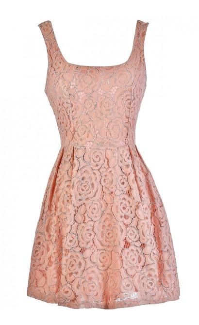 Pink Lace Dress, Blush Pink Dress, Pink Lace A-Line Dress, Pink Lace Party Dress, Pink Lace Cocktail Dress, Pink Lace Summer Dress, Blush Pink Dress