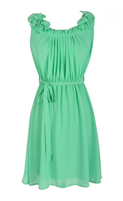 Green Dream Chiffon Dress