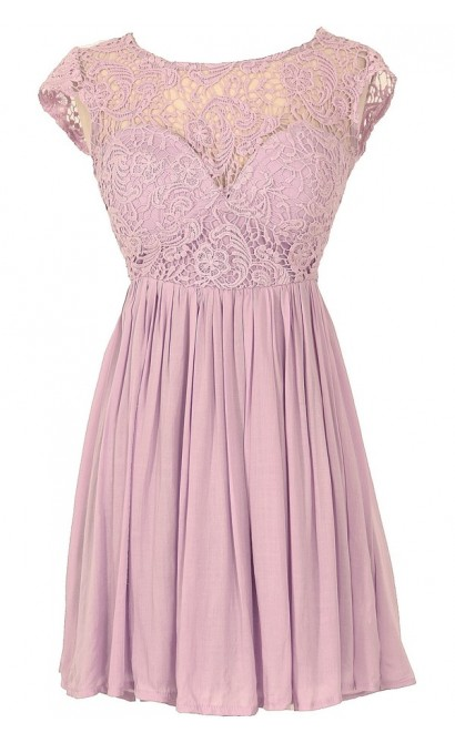 Lilac Garden Lace Party Dress