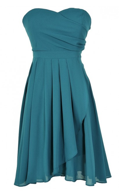 Stylish Simplicity Dress in Teal