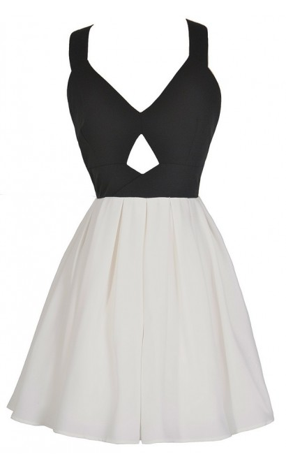 Bow Tie Affair Cutout Chiffon Dress