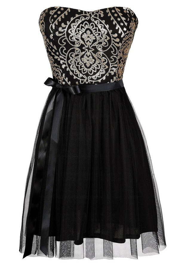 Lily Boutique Black And Gold Dress Black And Gold Party
