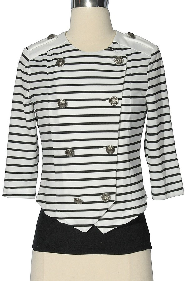 Black and White Crossover Sailor Jacket