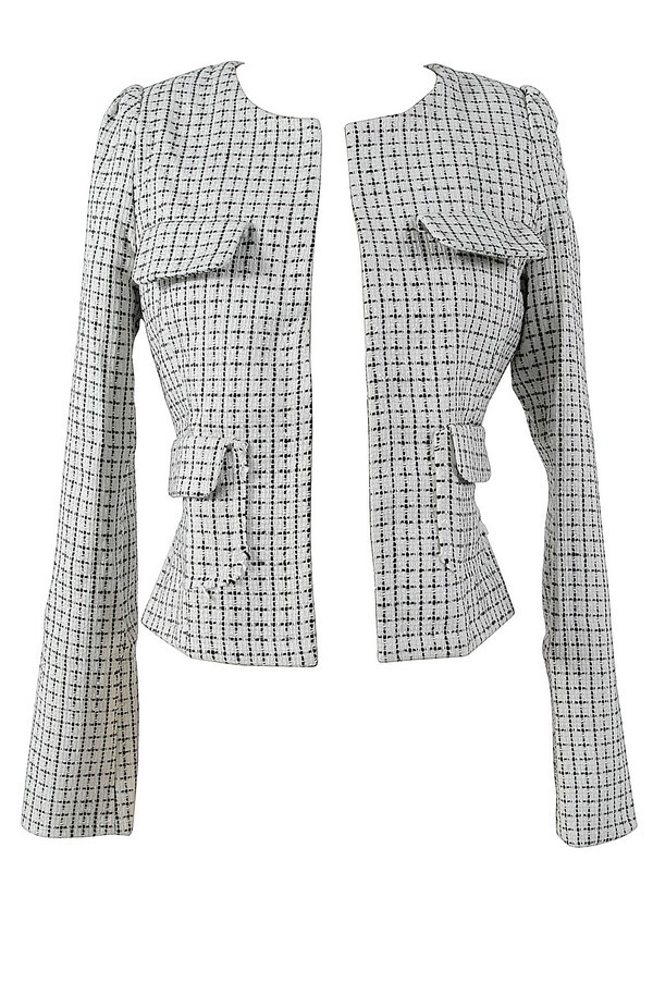 Chic Black and Ivory Chanel Inspired Blazer