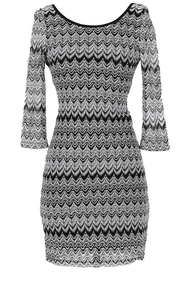 Double Vision Chevron Print Dress