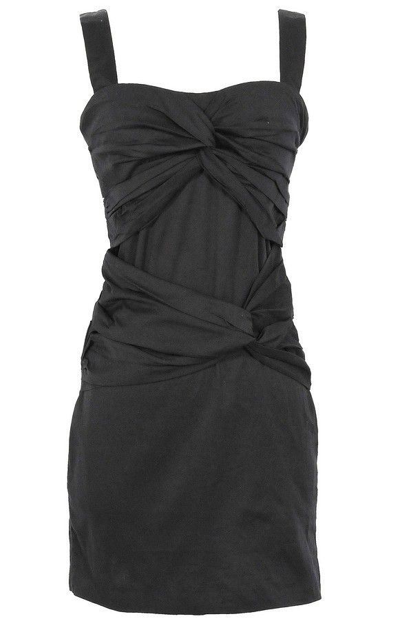 Twisted Over You Dress in Black