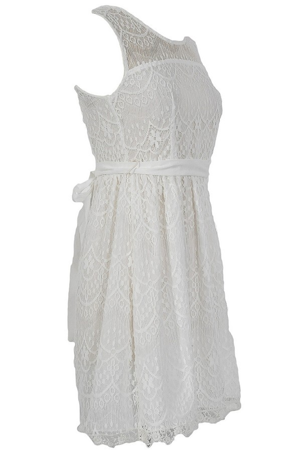 Isabelle Lace Dress in White
