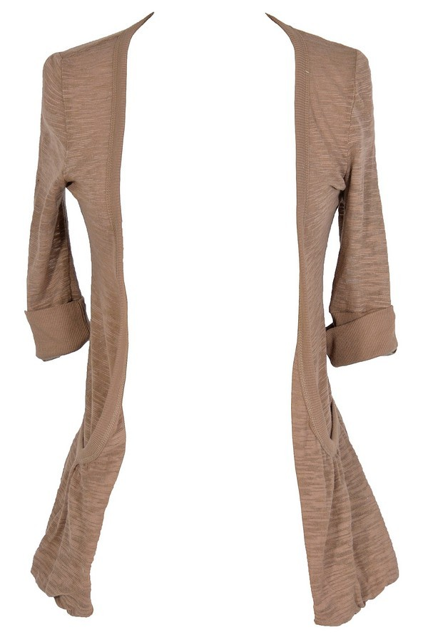 Classic Cardi With Side Pocket in Mocha