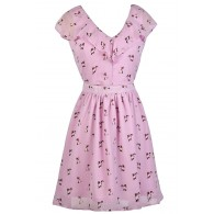 Cat Print Dress, Purple Cat Print Dress, Cute Purple Dress, Printed Purple Dress, Purple Sundress, Purple Summer Dress