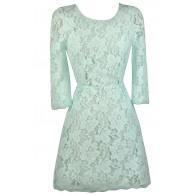 Mint Lace Dress, Cute Mint Dress, Mint Lace Sheath Dress, Mint Lace Party Dress, Open Back Lace Dress
